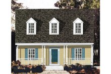 Country Exterior - Front Elevation Plan #3-298