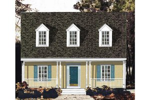 Architectural House Design - Country Exterior - Front Elevation Plan #3-298