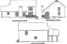European Exterior - Rear Elevation Plan #57-134