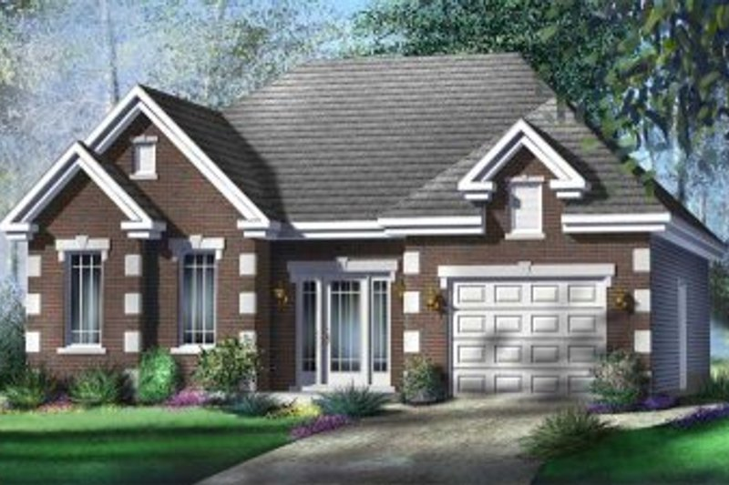 Cottage Style House Plan - 2 Beds 1 Baths 1147 Sq/Ft Plan #25-4128 Exterior - Front Elevation