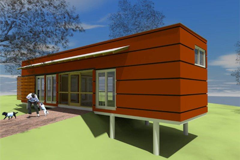 Modern Style House Plan - 1 Beds 1 Baths 432 Sq/Ft Plan #450-3