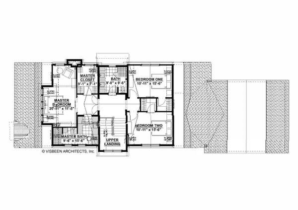Farmhouse Floor Plan - Upper Floor Plan #928-323