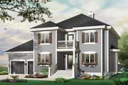 Traditional Style House Plan - 3 Beds 2.5 Baths 2090 Sq/Ft Plan #23-809 Exterior - Front Elevation