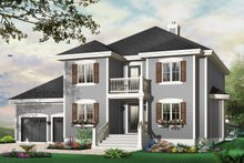 Dream House Plan - Traditional Exterior - Front Elevation Plan #23-809