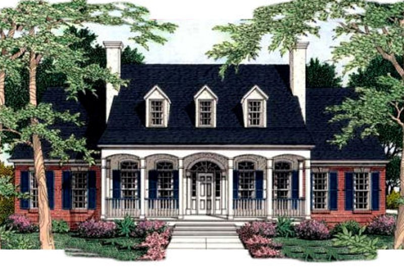 Southern Exterior - Front Elevation Plan #406-189 - Houseplans.com