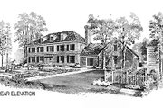 Colonial Style House Plan - 3 Beds 3 Baths 3405 Sq/Ft Plan #72-331 Exterior - Other Elevation