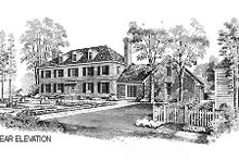 House Blueprint - Colonial Exterior - Other Elevation Plan #72-331
