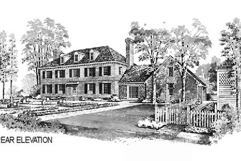 Colonial Exterior - Other Elevation Plan #72-331 - Houseplans.com