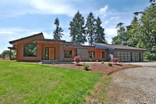 Front View - 3300 square foot Modern home