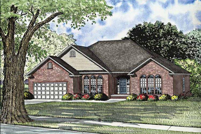 Dream House Plan - European Exterior - Front Elevation Plan #17-3004