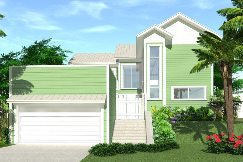 Modern Exterior - Front Elevation Plan #64-192 - Houseplans.com