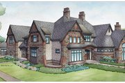 Tudor Style House Plan - 5 Beds 5 Baths 7398 Sq/Ft Plan #928-275 Exterior - Rear Elevation