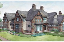 Home Plan - Tudor Exterior - Rear Elevation Plan #928-275