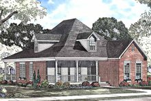 Country Exterior - Front Elevation Plan #17-3226