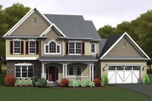 Architectural House Design - Country Exterior - Front Elevation Plan #1010-89