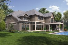 Craftsman Exterior - Rear Elevation Plan #48-973