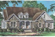 Traditional Style House Plan - 4 Beds 3.5 Baths 2872 Sq/Ft Plan #929-983 Exterior - Front Elevation