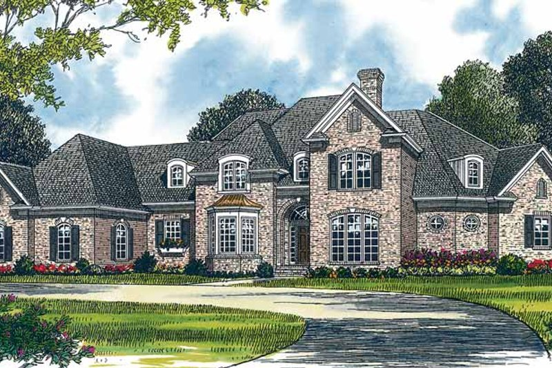 Dream House Plan - Traditional Exterior - Front Elevation Plan #453-375