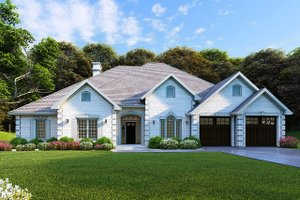 Country Exterior - Front Elevation Plan #17-2682
