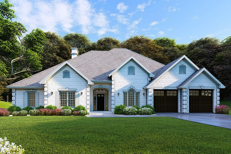 Architectural House Design - Country Exterior - Front Elevation Plan #17-2682