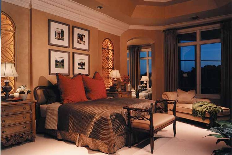 Mediterranean Interior - Master Bedroom Plan #930-256 - Houseplans.com