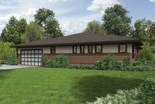 Architectural House Design - Contemporary Exterior - Other Elevation Plan #48-917