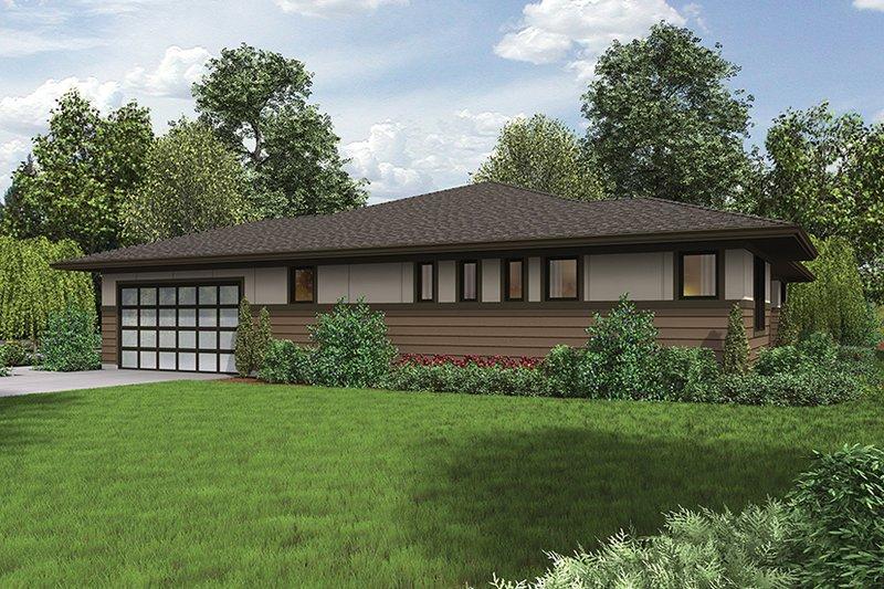 Contemporary Exterior - Other Elevation Plan #48-917 - Houseplans.com
