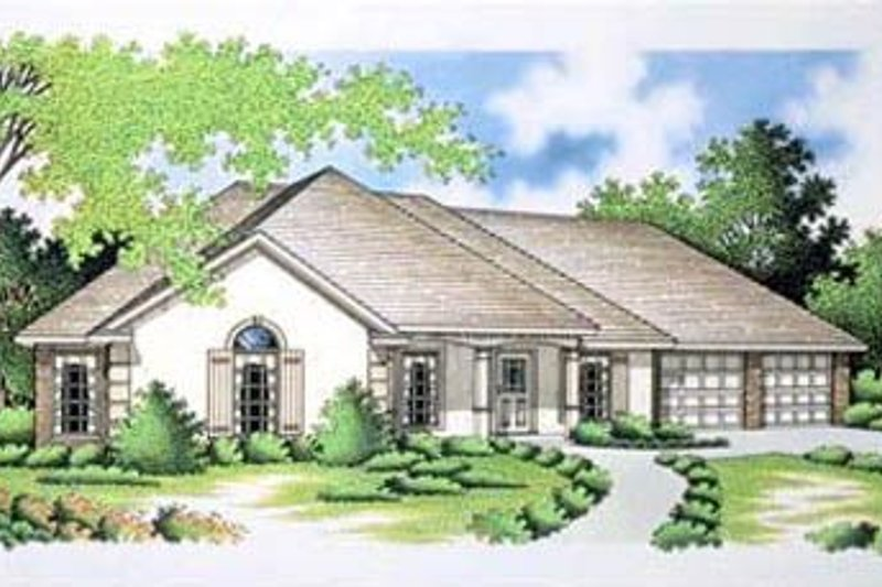 Home Plan Design - European Exterior - Front Elevation Plan #45-187