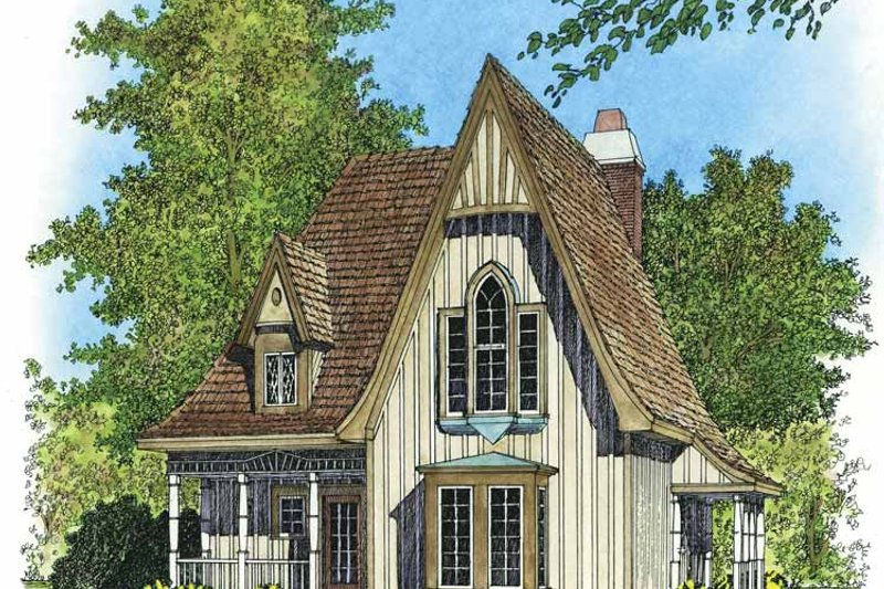 Victorian Exterior - Front Elevation Plan #1016-79
