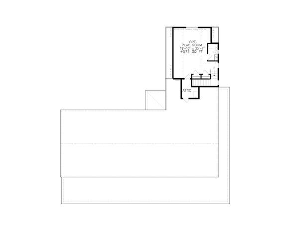 Home Plan - Ranch Floor Plan - Upper Floor Plan #54-400