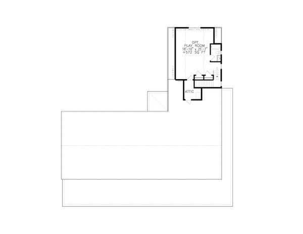 Ranch Floor Plan - Upper Floor Plan #54-400
