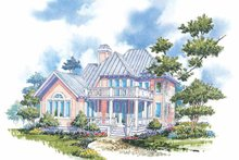 Dream House Plan - Victorian Exterior - Rear Elevation Plan #930-66