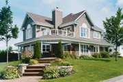 Country Style House Plan - 4 Beds 2.5 Baths 2528 Sq/Ft Plan #23-2417 Exterior - Front Elevation