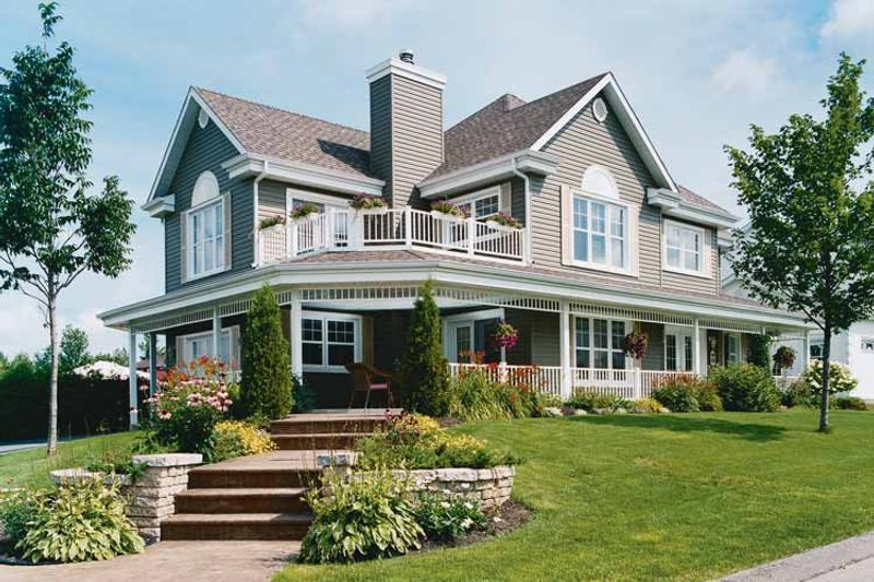 House Plan Design - Country Exterior - Front Elevation Plan #23-2417