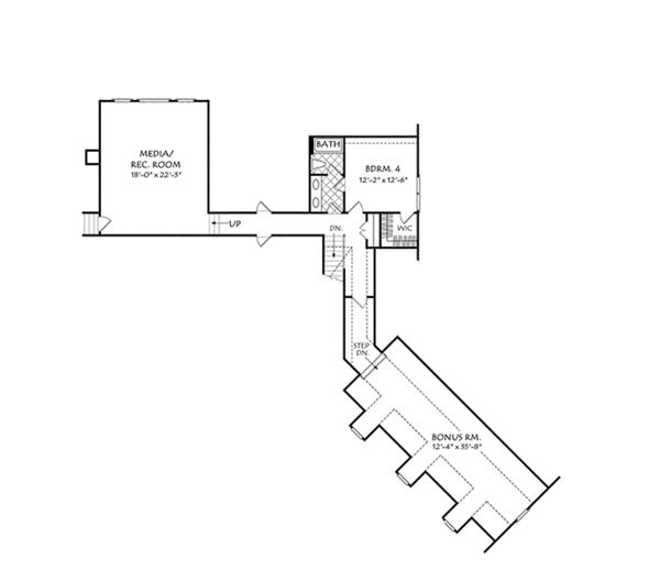 Traditional Floor Plan - Upper Floor Plan Plan #927-958