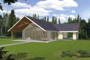 Modern Style House Plan - 1 Beds 1 Baths 1120 Sq/Ft Plan #117-452 Exterior - Front Elevation