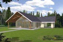 Architectural House Design - Modern Exterior - Front Elevation Plan #117-452