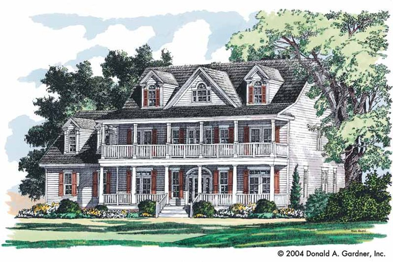 Country Exterior - Front Elevation Plan #929-731