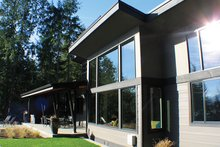 Contemporary Exterior - Rear Elevation Plan #132-563