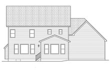 Home Plan - Traditional Exterior - Rear Elevation Plan #1010-125