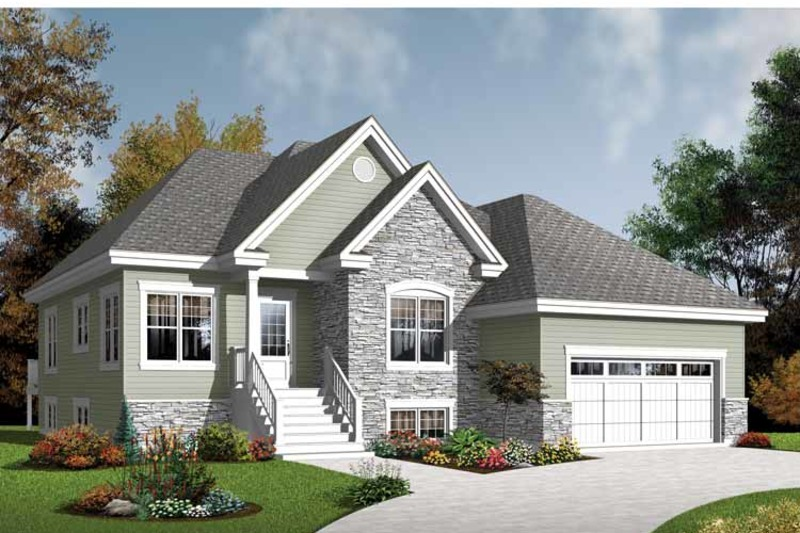 Country Exterior - Front Elevation Plan #23-2526 - Houseplans.com