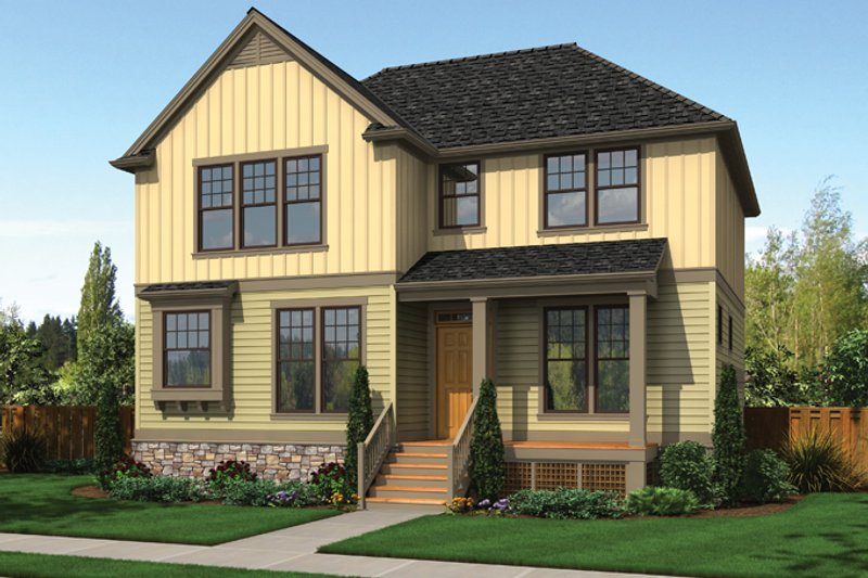 Country Exterior - Front Elevation Plan #48-908