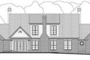 Southern Style House Plan - 5 Beds 4.5 Baths 3525 Sq/Ft Plan #406-106 Exterior - Rear Elevation
