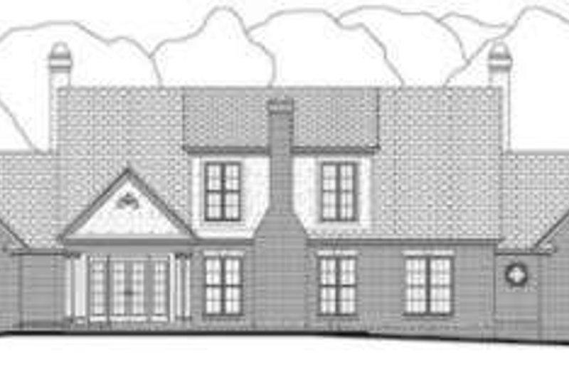 Southern Exterior - Rear Elevation Plan #406-106 - Houseplans.com