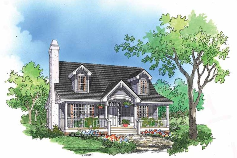 Country Exterior - Front Elevation Plan #929-396