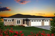 Ranch Style House Plan - 4 Beds 2 Baths 2228 Sq/Ft Plan #70-1197 Exterior - Front Elevation