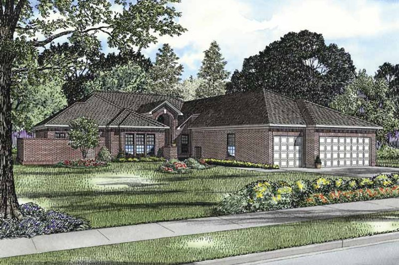 Traditional Exterior - Front Elevation Plan #17-3295 - Houseplans.com