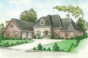 European Style House Plan - 4 Beds 3.5 Baths 2878 Sq/Ft Plan #15-149 Exterior - Front Elevation