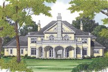 European Exterior - Rear Elevation Plan #453-600