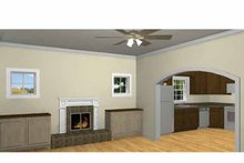 Country Interior - Family Room Plan #44-220